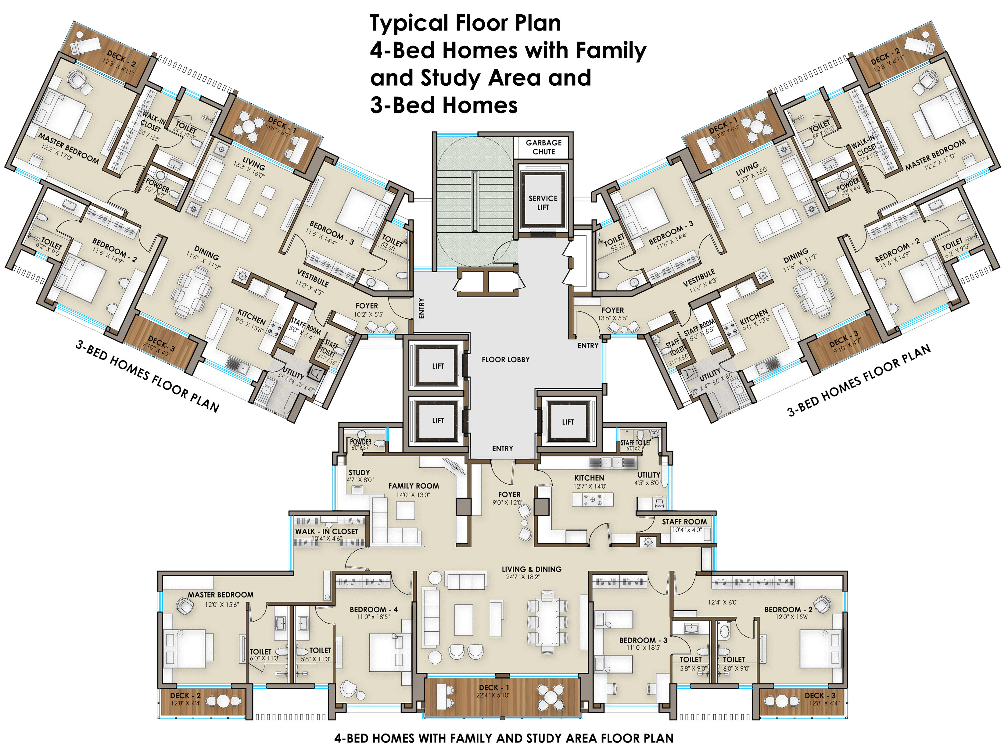 2386 Sq Ft 3 BHK 3T Apartment For Sale In The Phoenix
