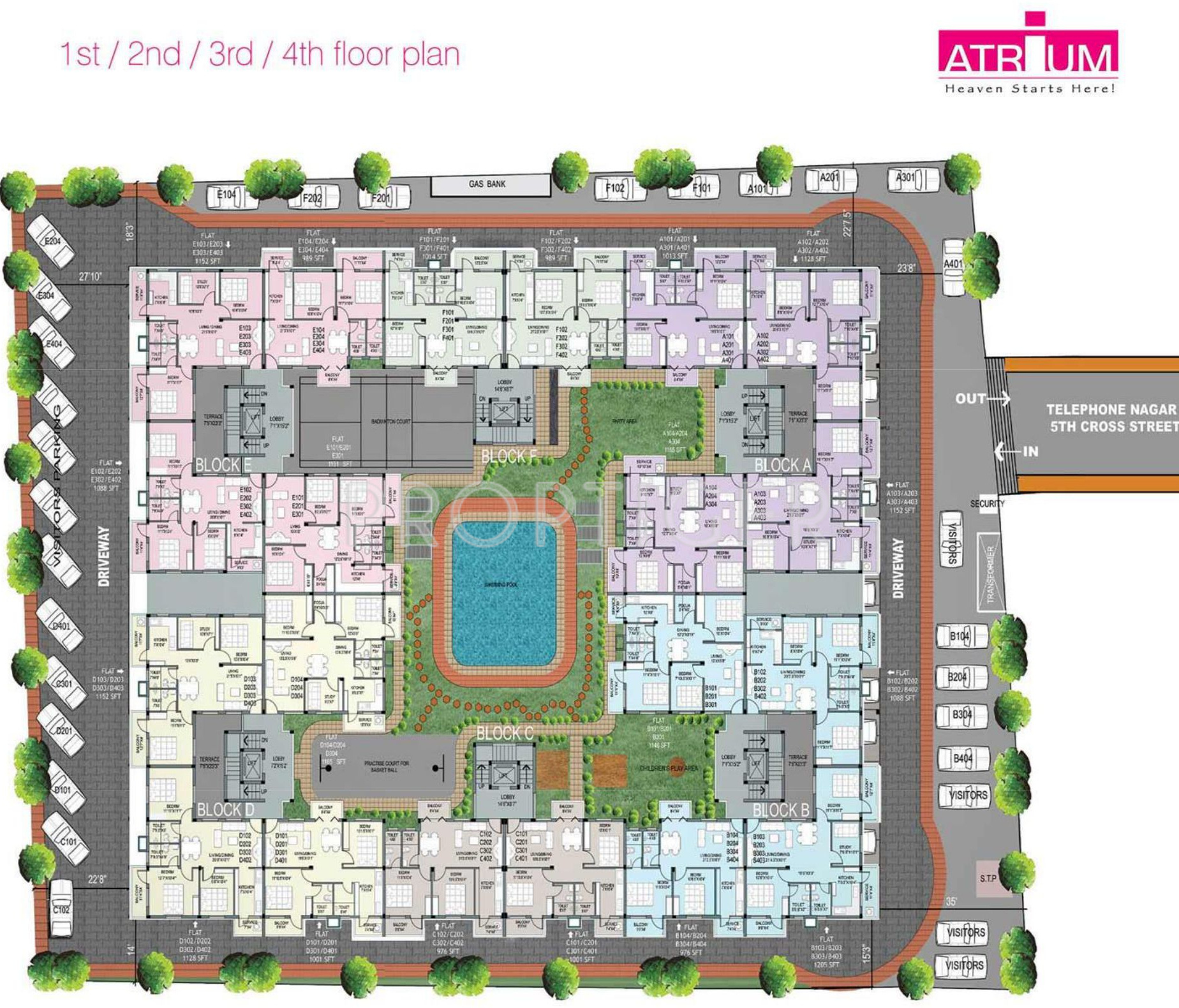Urban tree atrium in perungudi chennai price location for House plans with atrium in center