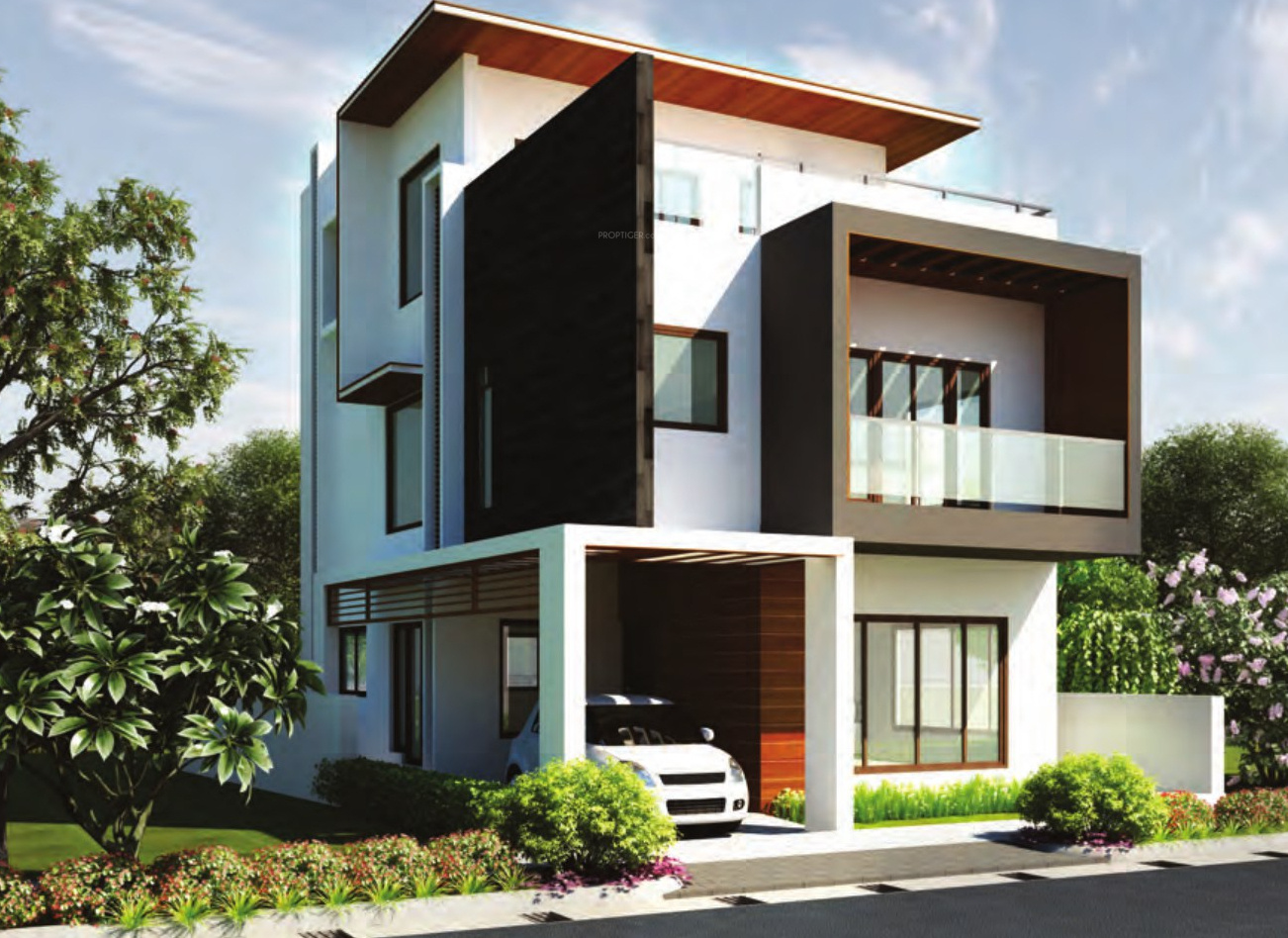 2973 sq ft 4 bhk 6t villa for sale in rbd shelters for Villa elevation photos