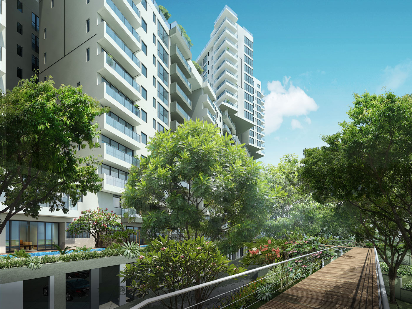 Embassy lake terraces in hebbal bangalore price for Terrace elevation
