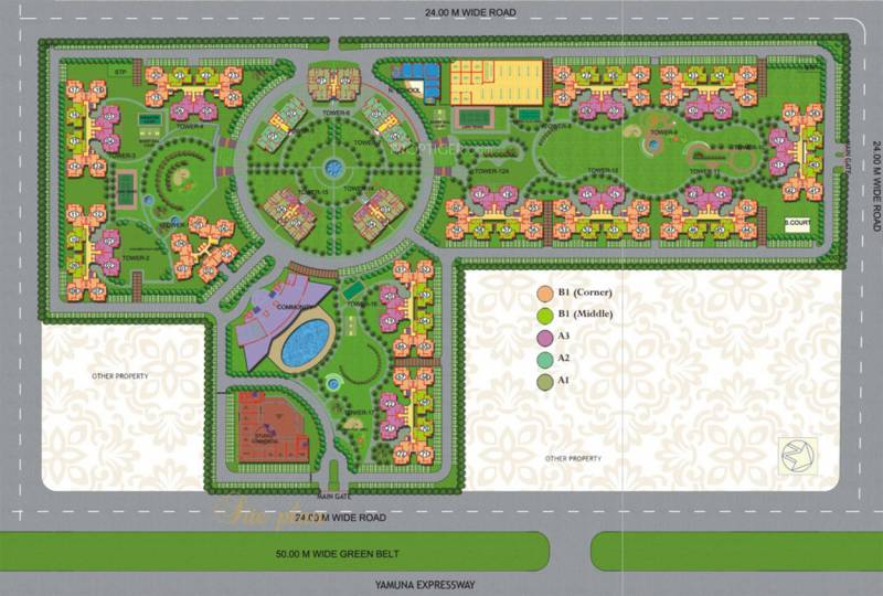 royal-city Images for Site Plan of Purvanchal Royal City