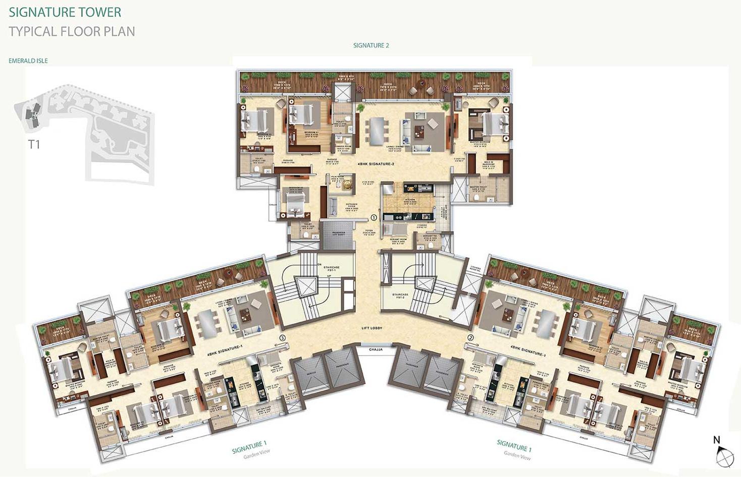 L t emerald isle in powai mumbai price location map for Emerald homes floor plans