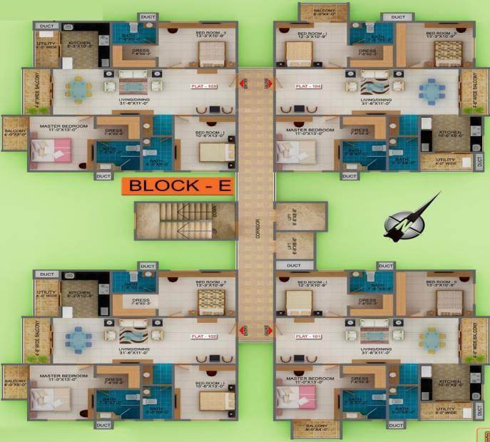 Images for Cluster Plan of Golden Commune