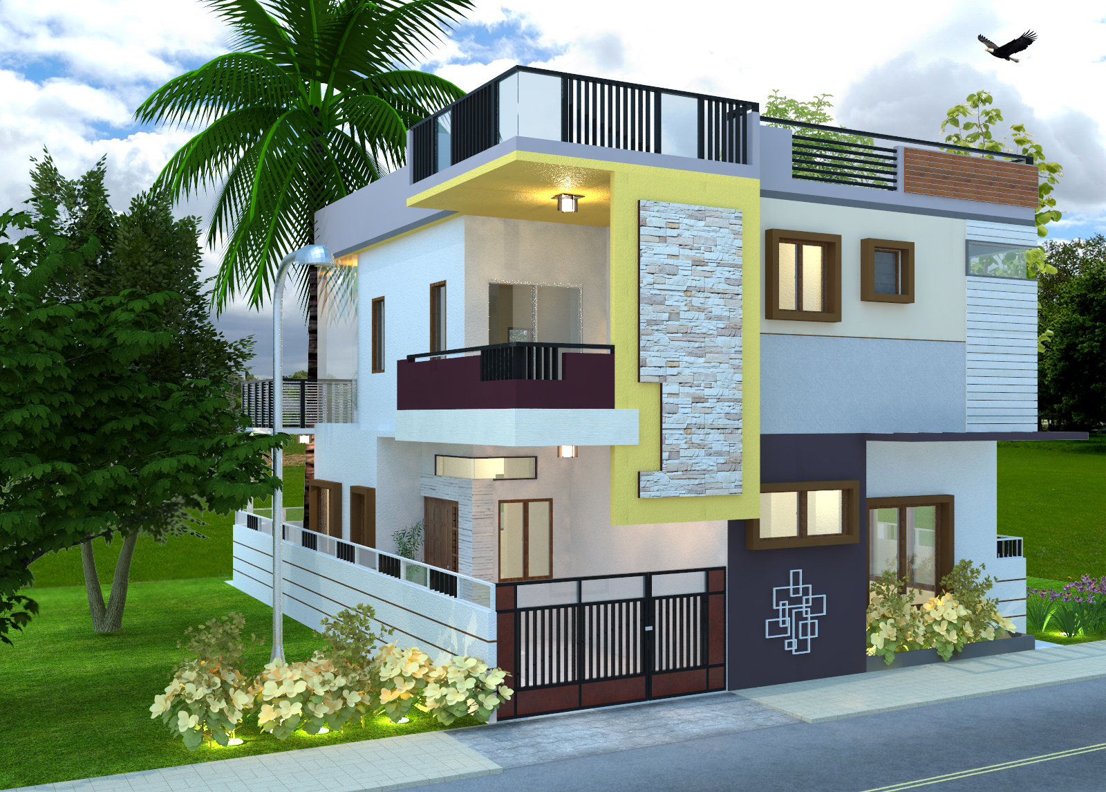 3600 sq ft 4 bhk 4t villa for sale in home land developers for 4 bhk villa interior design