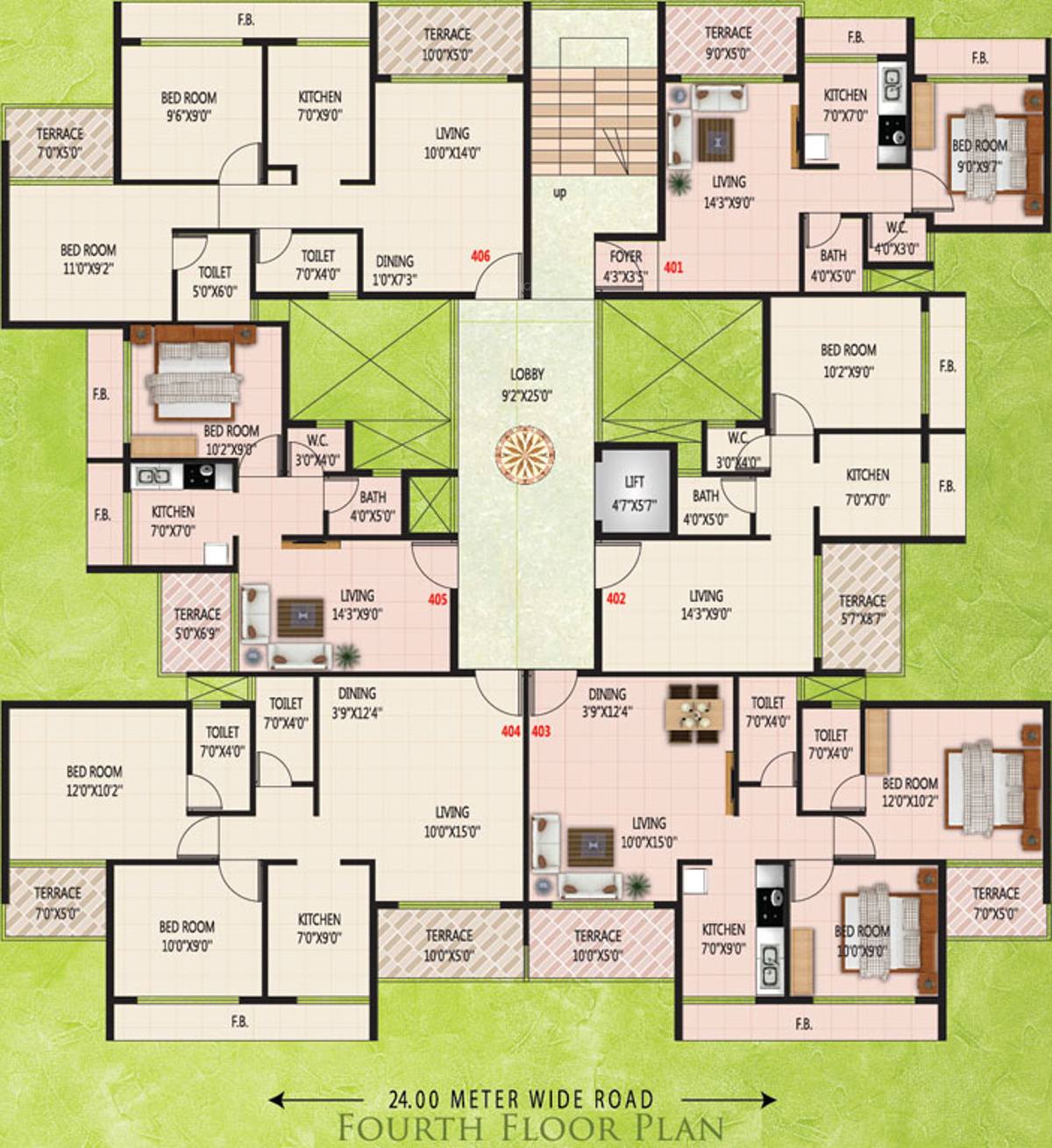 650 sq ft 1 bhk 1t apartment for sale in kk emerald ulwe for 650 sq ft apartment floor plan