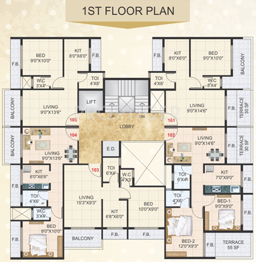 640 Sq Ft 1 Bhk 1t Apartment For Sale In Devkrupa Dev