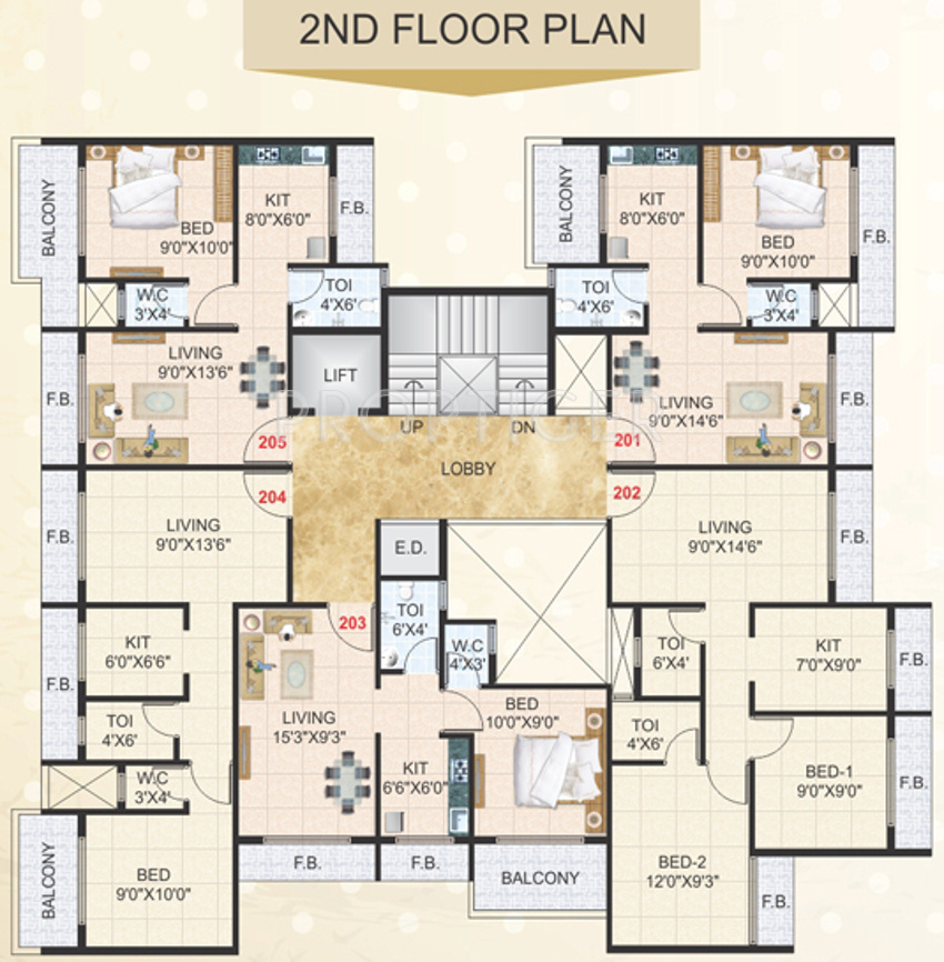 900 Sq Ft 2 Bhk 2t Apartment For Sale In Devkrupa Dev