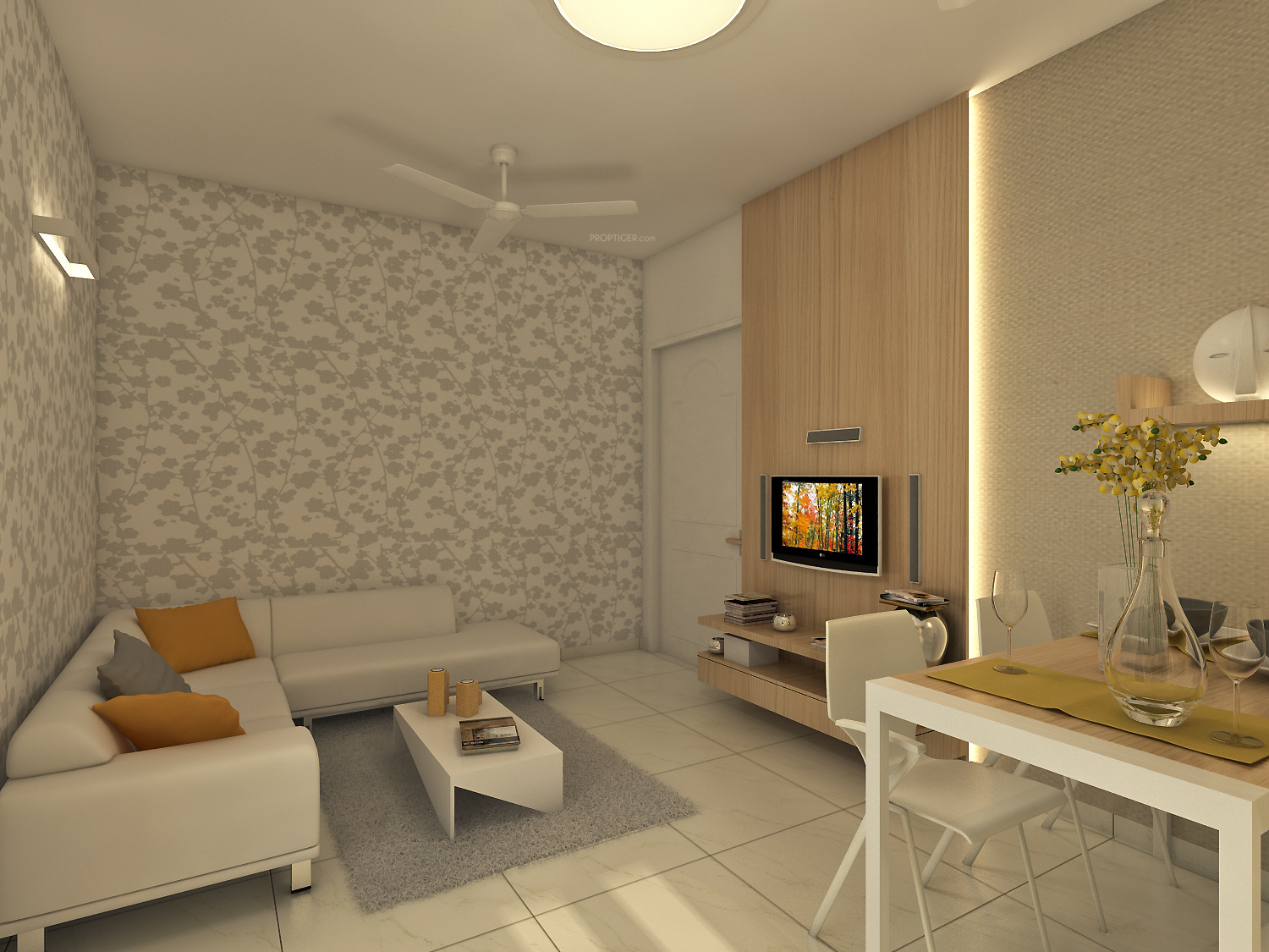 640 sq ft 1 bhk 1t apartment for sale in axis spaces la for 1 bhk flat interior decoration