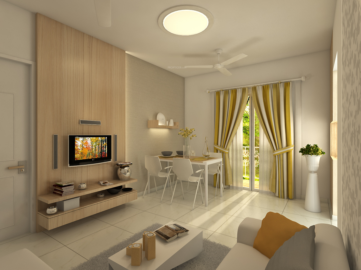 600 sq ft 1 bhk 1t apartment for sale in axis spaces la for 1 bhk flat interior decoration image