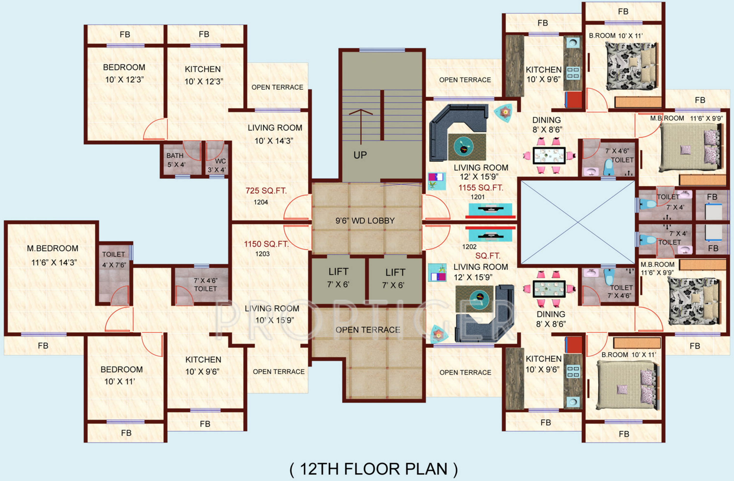 720 sq ft 1 bhk 1t apartment for sale in happy home group for 720 sq ft house plans