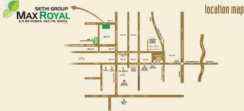 max-royal Images for Location Plan of Sethi Max Royal