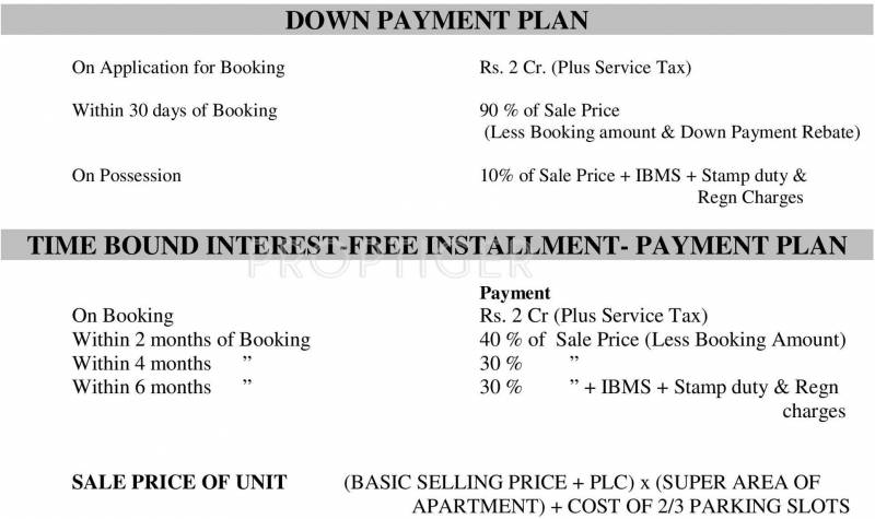 Images for Payment Plan of DLF Queens Court