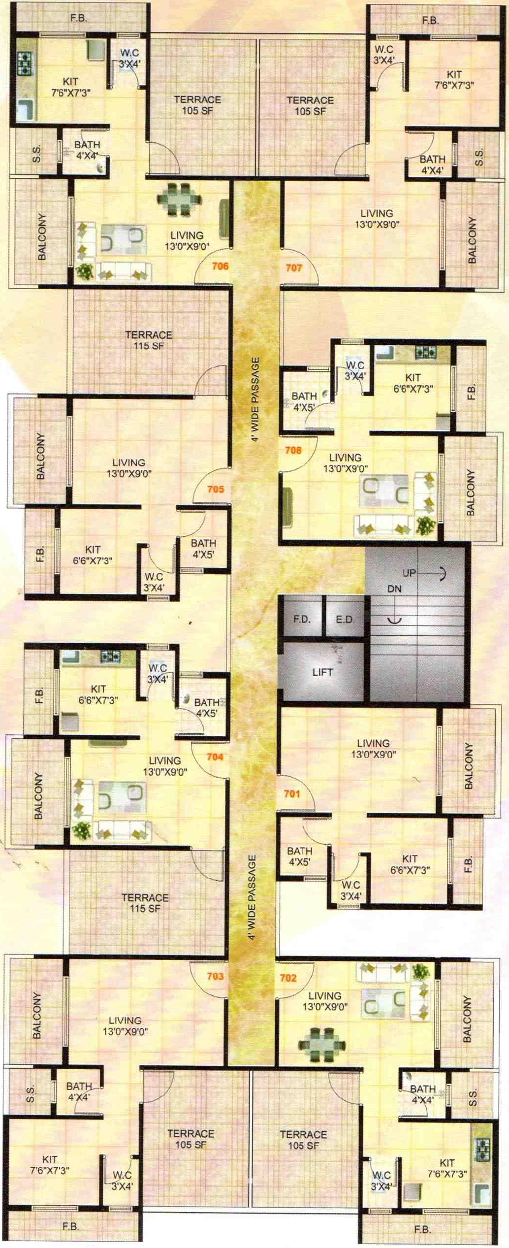 650 Sq Ft 1 Bhk 1t Apartment For Sale In Eco Homes Shree