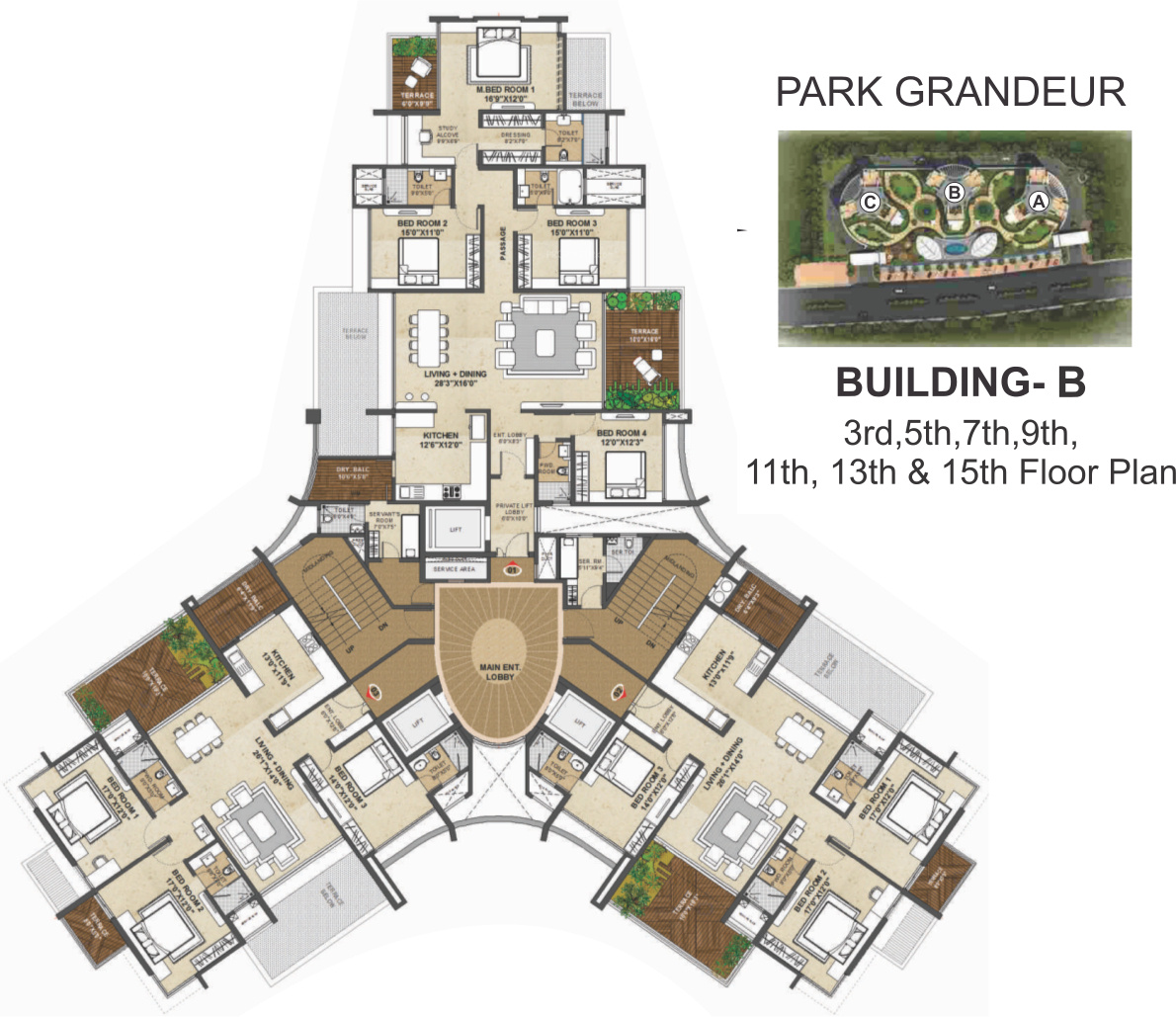 2945 sq ft 4 bhk 4t apartment for sale in pride purple group park