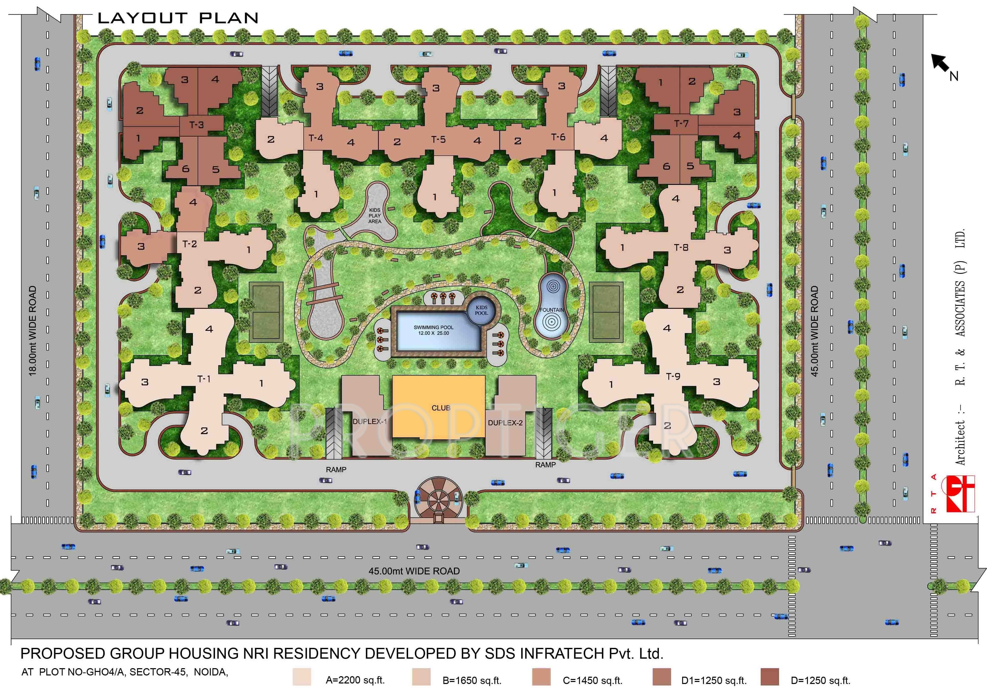 SDS NRI Residency in Sector 45, Noida - Price, Location Map, Floor ...