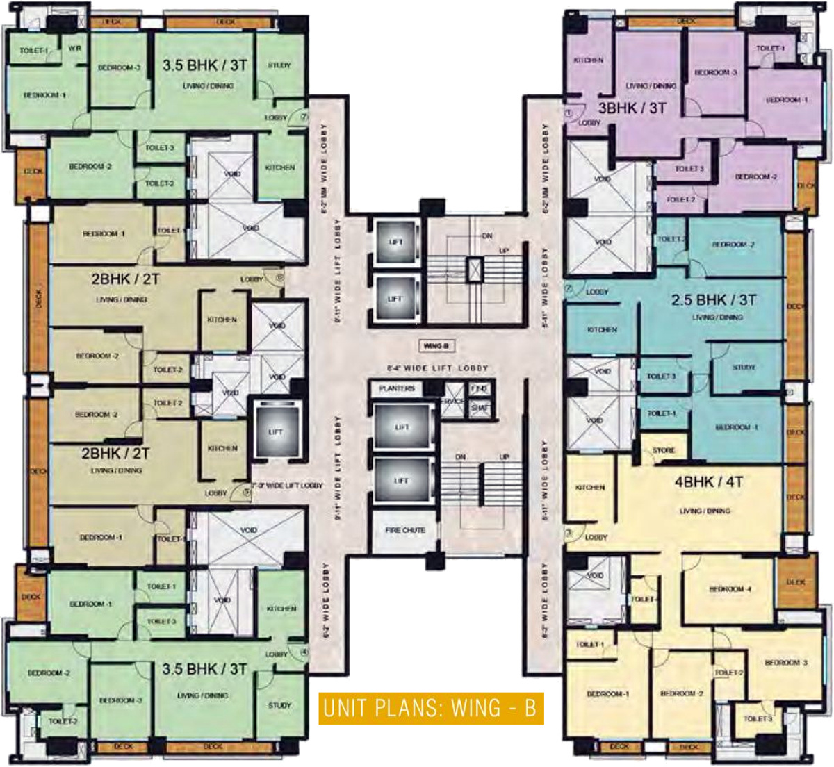 Adani estates western heights phase 1 residential in for Western floor plans