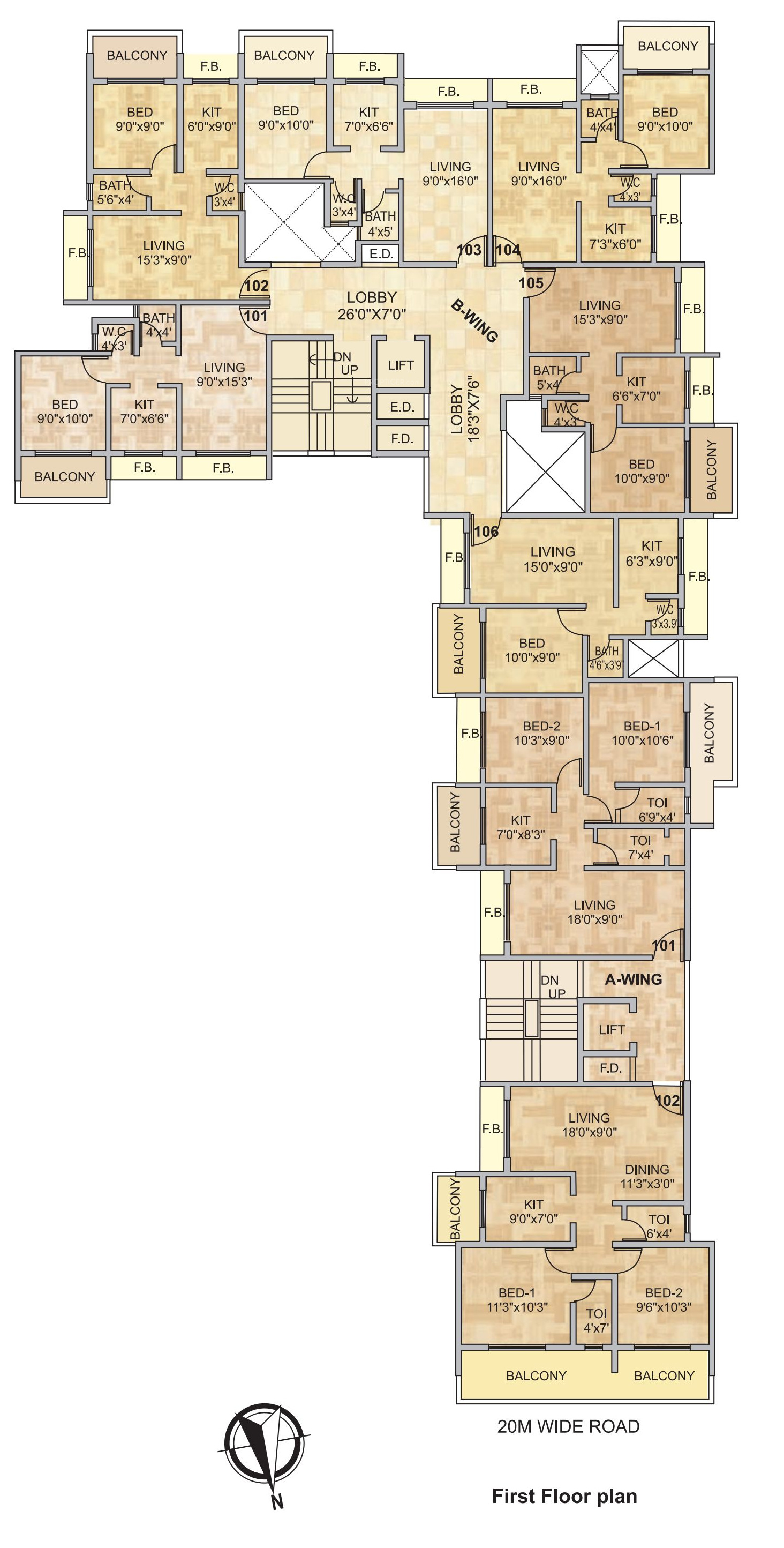 685 Sq Ft 1 Bhk 1t Apartment For Sale In Platinum Group