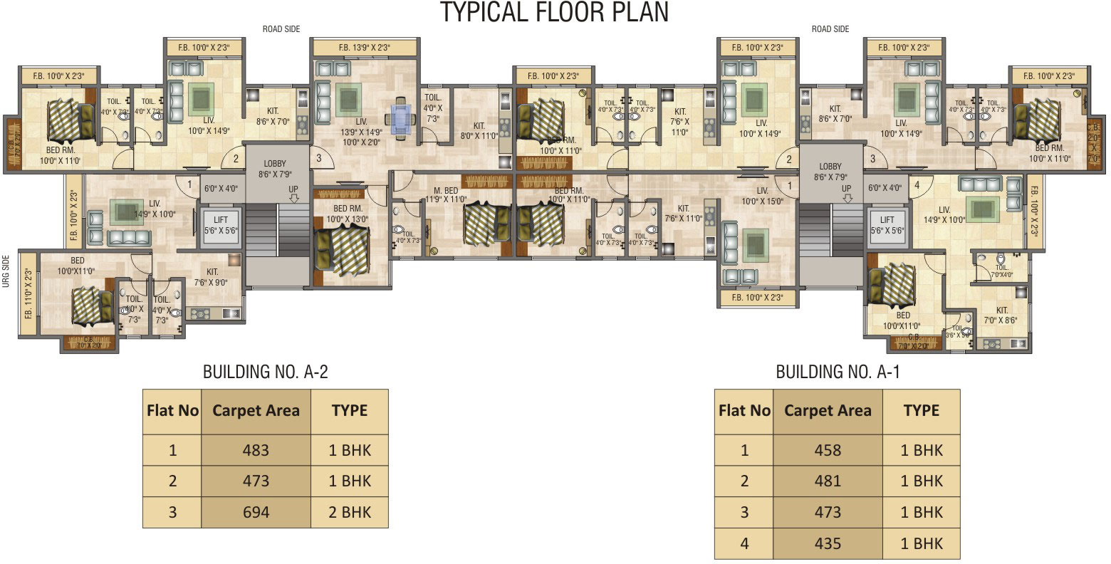 680 sq ft 1 bhk 1t apartment for sale in rosa group elite for 680 square feet house plan