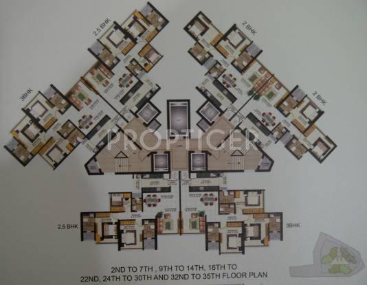 Images for Cluster Plan of Rustomjee Rustomjee Summit