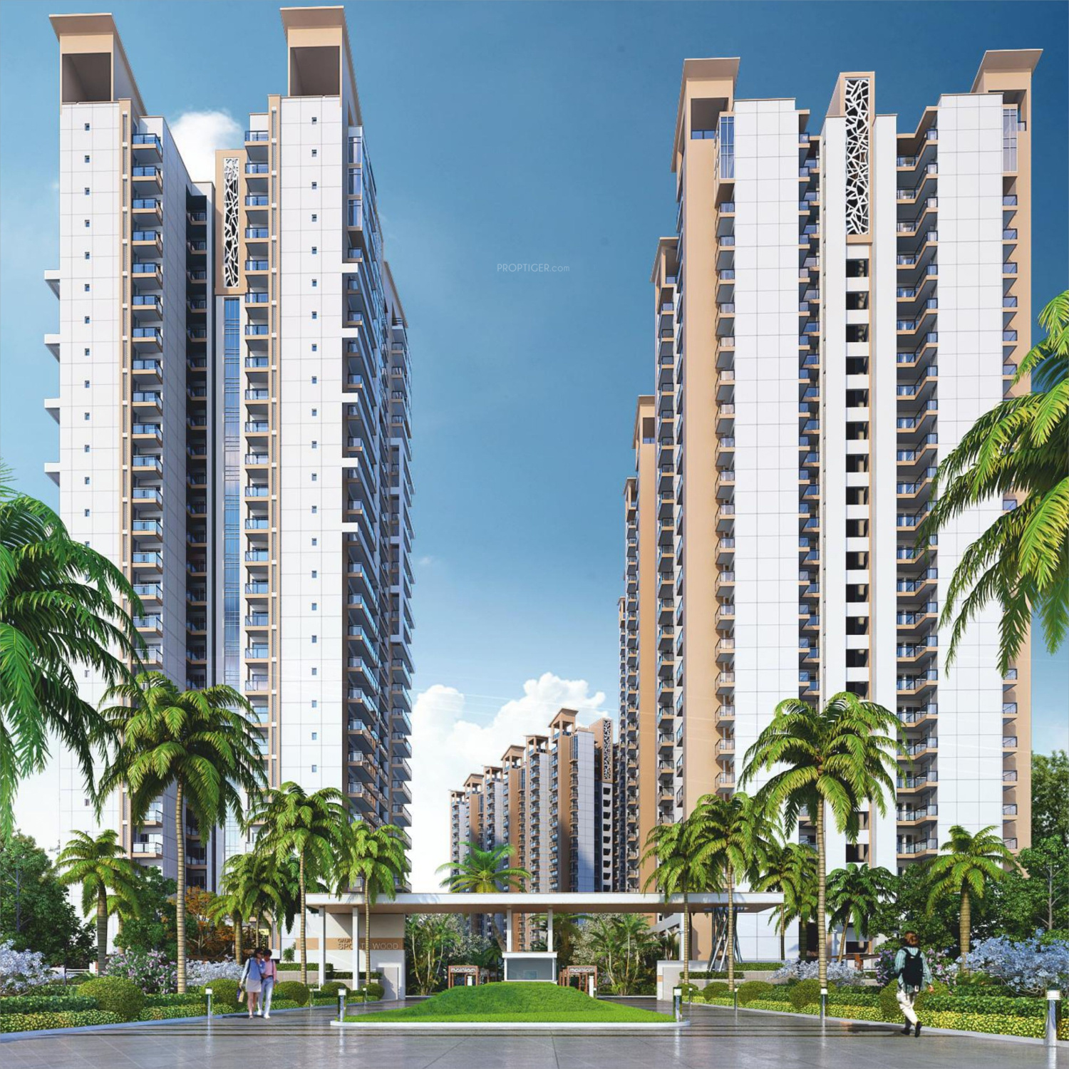 Wood Elevation Maps : Gaursons sports wood in sector noida price location