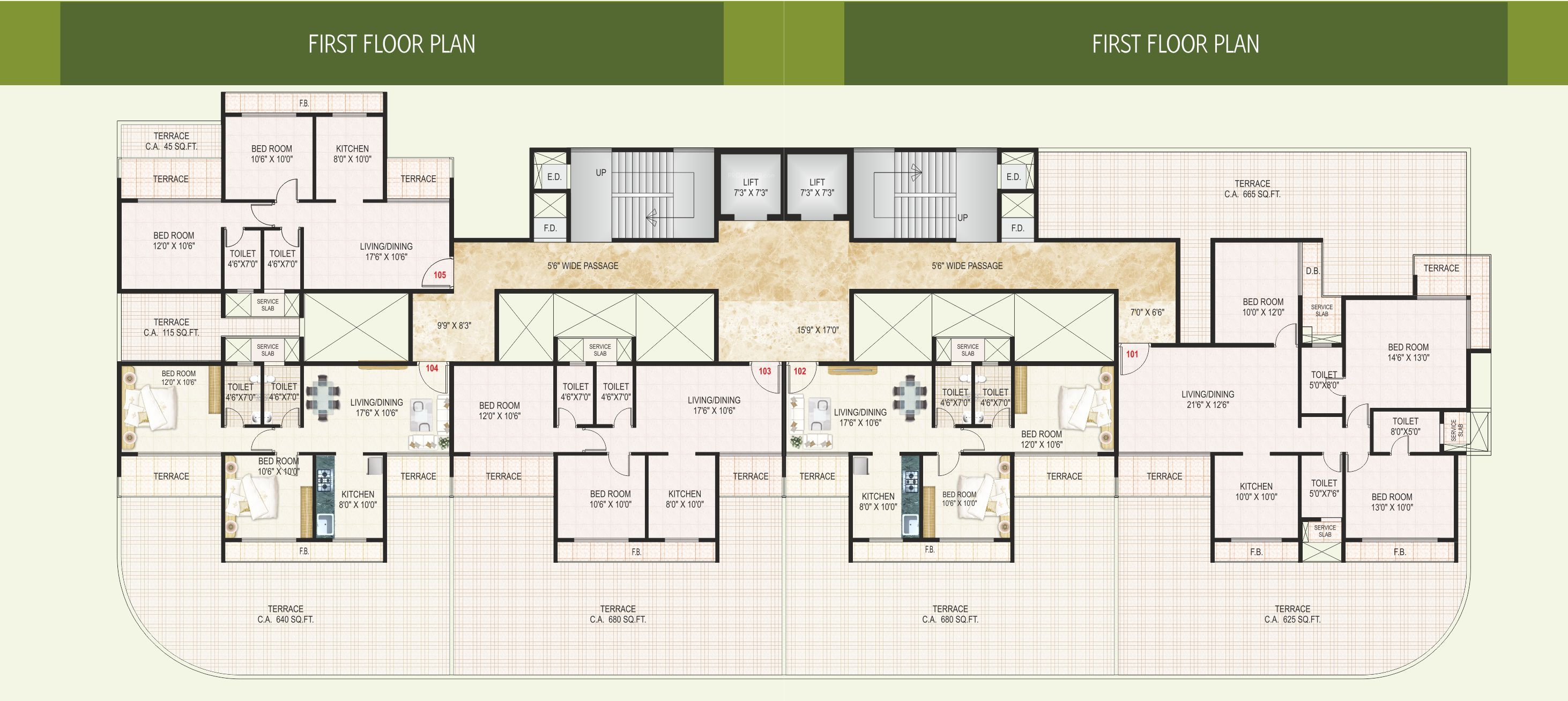 1125 sq ft 2 bhk 2t apartment for sale in vub group vama for 1125 sq ft floor plan
