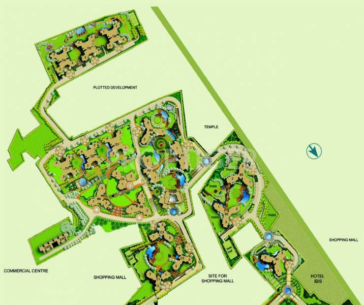 Images for Site Plan of Parsvnath Exotica