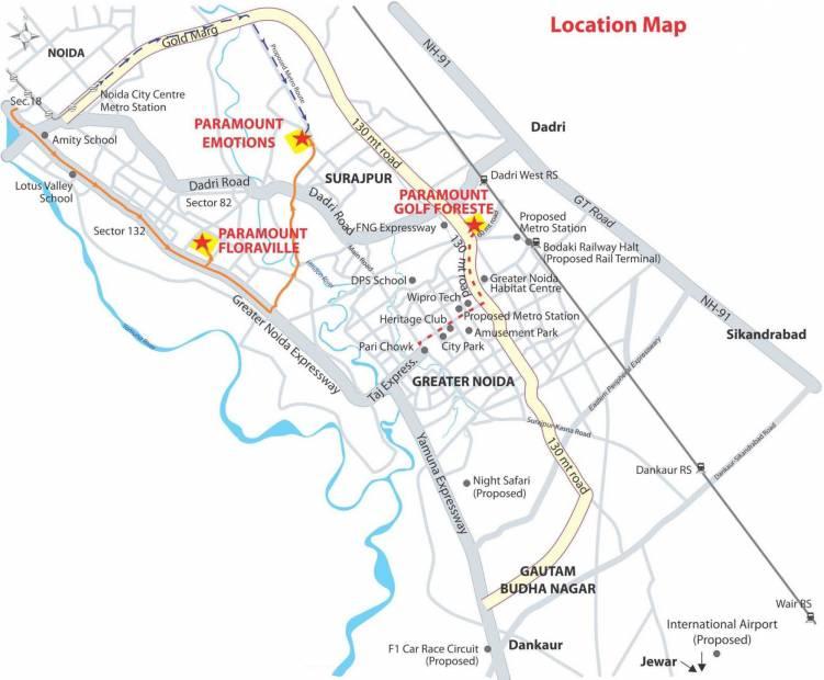 Images for Location Plan of Paramount Golfforeste Premium Apartments