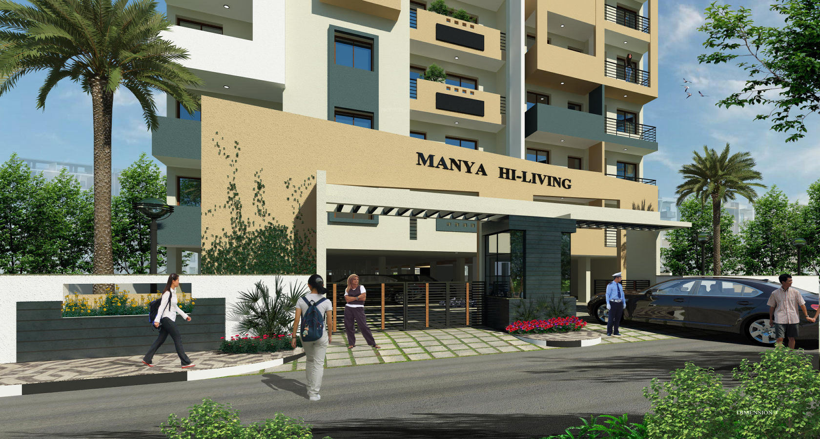 928 sq ft 2 bhk 2t apartment for sale in manya hi living. Black Bedroom Furniture Sets. Home Design Ideas