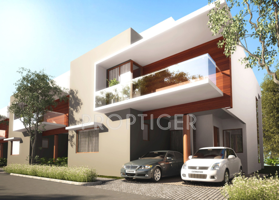 Front Elevation Of Villas In Bangalore : Main elevation image of fortune group kosmos villas