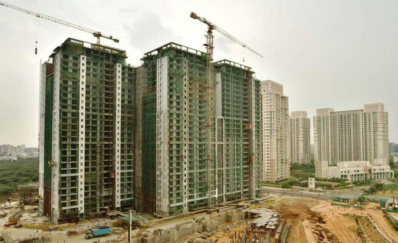 Images for Construction Status of DLF The Crest