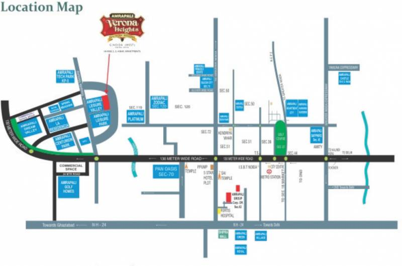 Images for Location Plan of Amrapali Jaura Heights