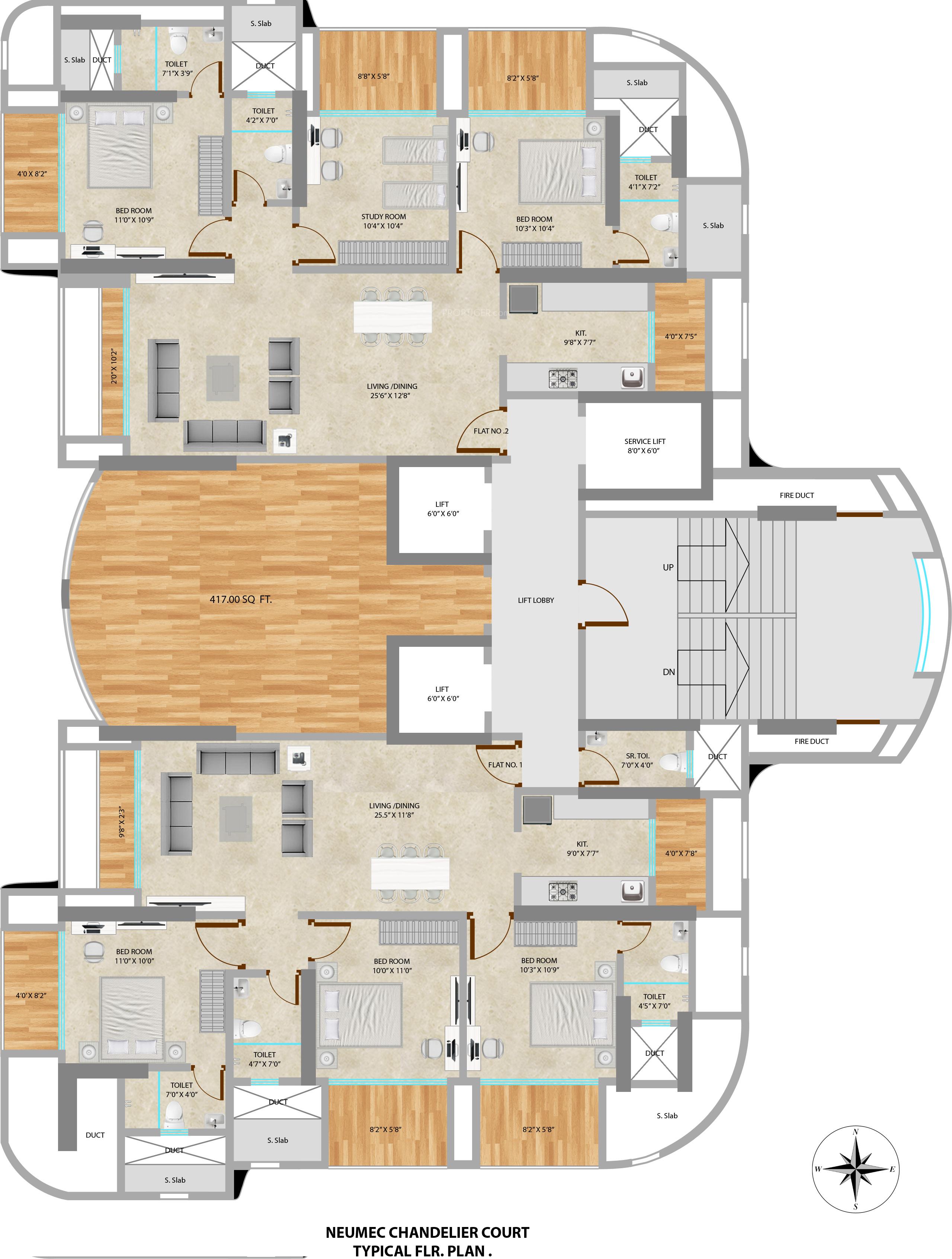 Neumec chandelier court in worli mumbai price location for 125 court street floor plans