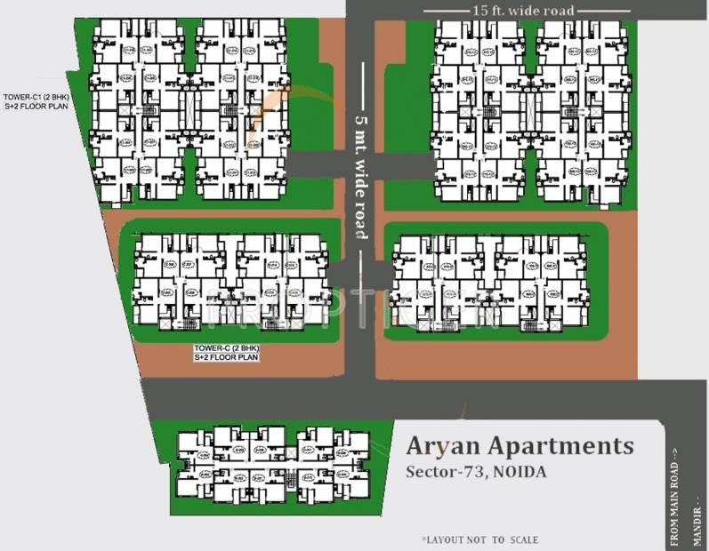 jaguar-infrastructure aryan-apartment Layout Plan