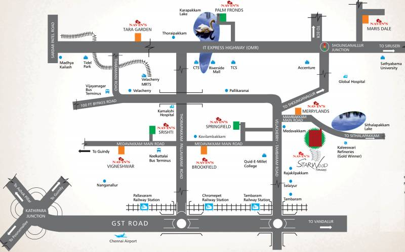 starwood-towers Images for Location Plan of Navin Starwood Towers