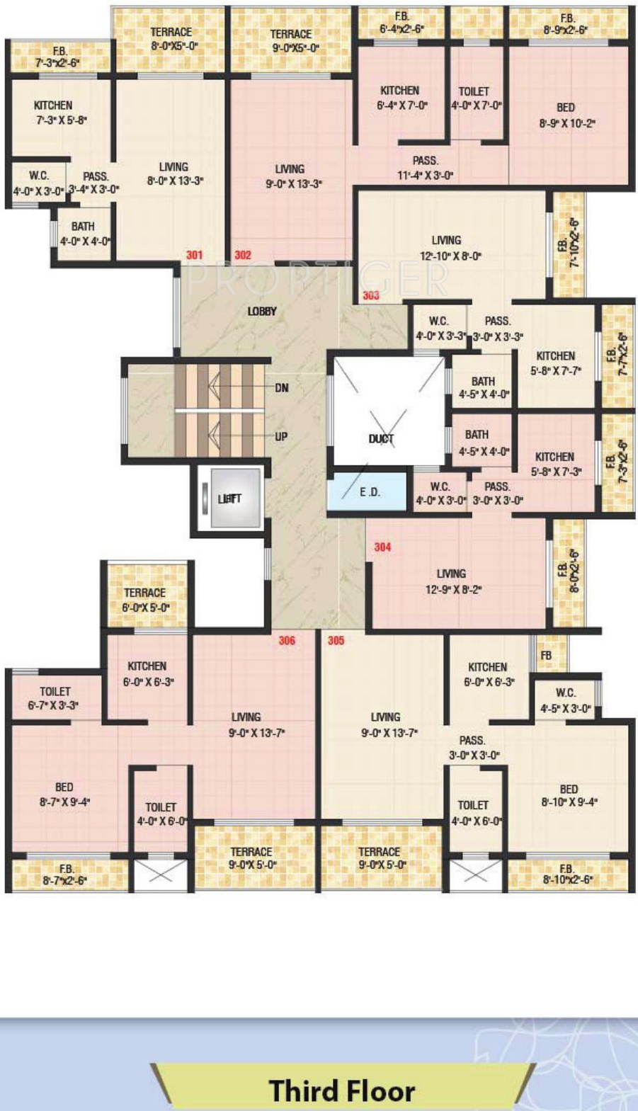 590 sq ft 1 bhk 1t apartment for sale in dolphin sunflower for Apartment floor plans for sale