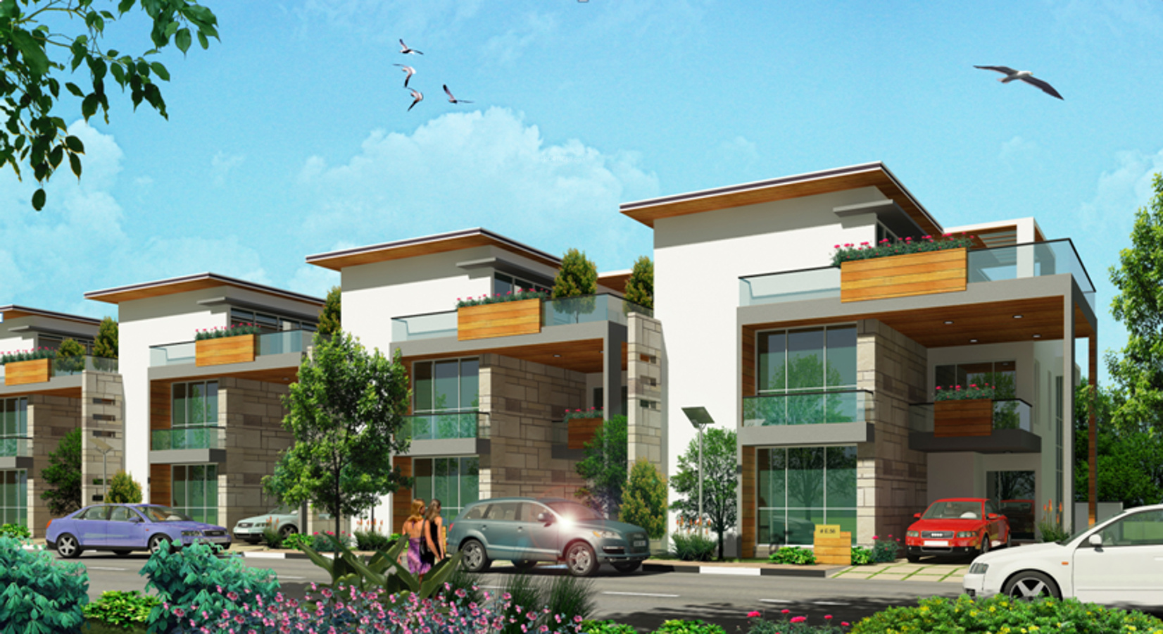 Front Elevation Villas : Foyer lake front villas in varthur bangalore price