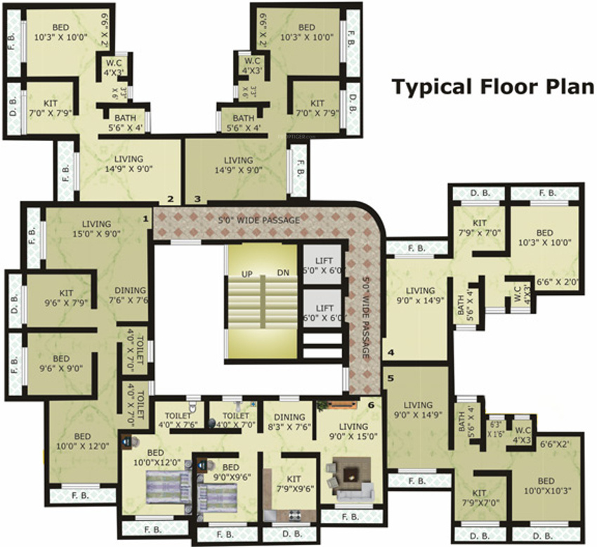 870 sq ft 2 bhk 2t apartment for sale in cosmos group