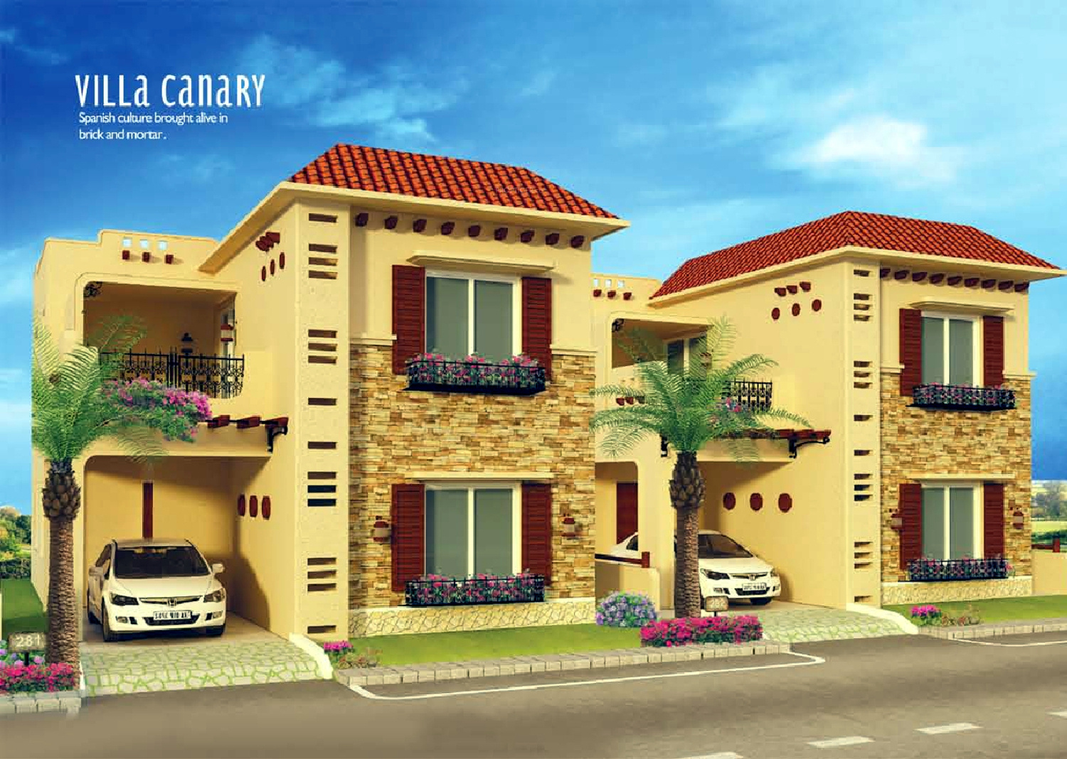 Front Elevation Of Villas In Bangalore : Main elevation image of heritage homes county unit