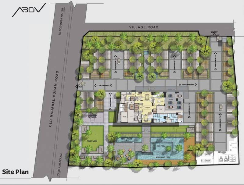 abov Images for Site Plan of Akshaya Abov