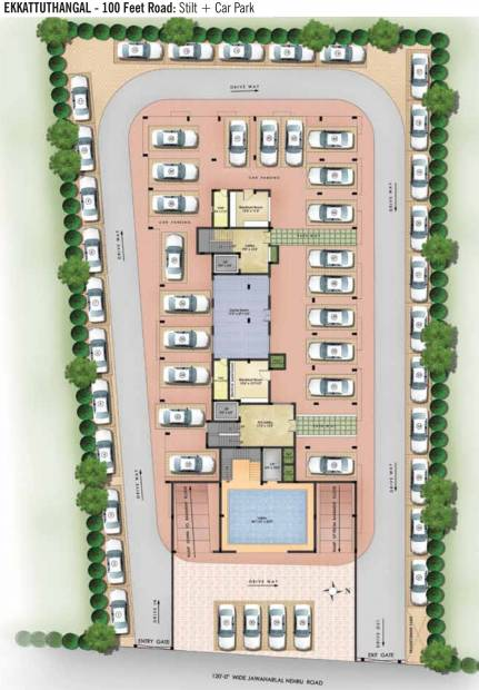 Images for Cluster Plan of Kgeyes Padmalayam