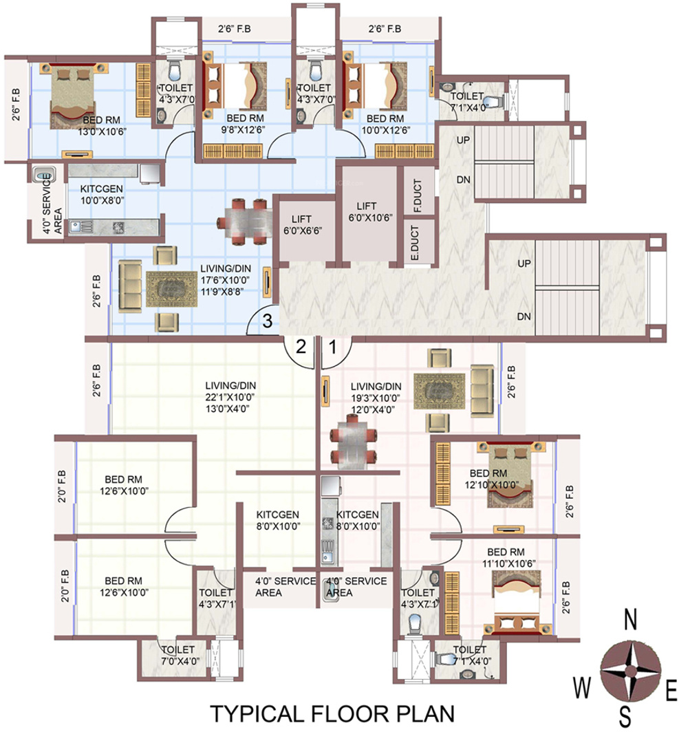 720 Sq Ft Apartment Floor Plan Of 720 Sq Ft 1 Bhk 1t Apartment For Sale In Agarwal Nimmit