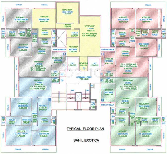 Images for Cluster Plan of Bombay Sahil Exotica