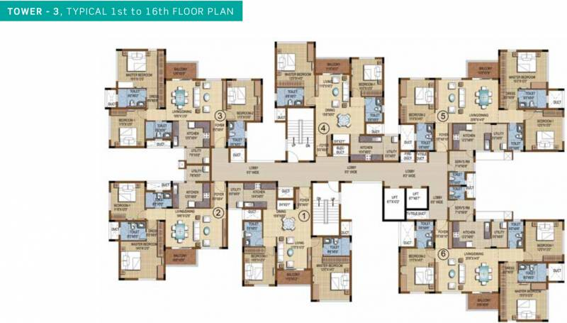 Images for Cluster Plan of Purva Skydale