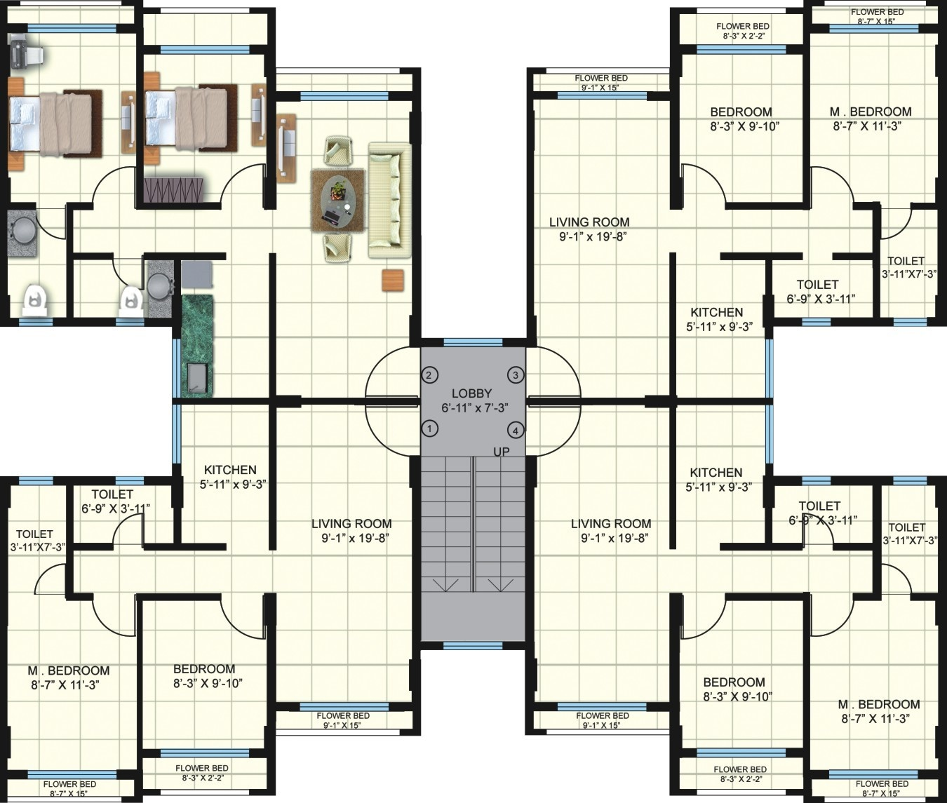 625 sq ft 1 bhk 2t apartment for sale in poddar housing for 1 bhk floor plans india