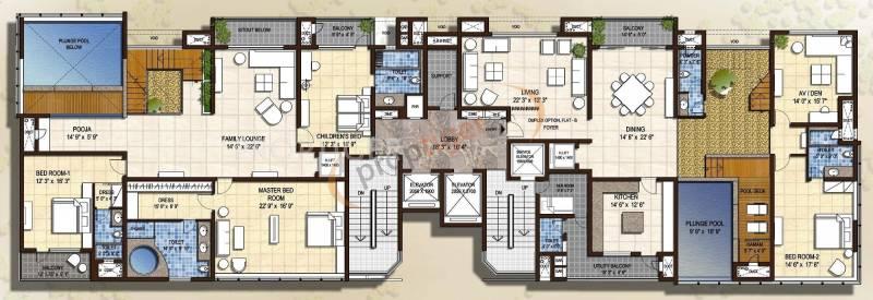 sky-villas Images for Cluster Plan of Olympia Sky Villas