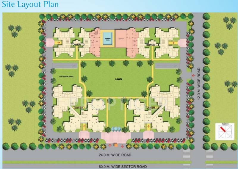 Images for Layout Plan of Samiah Green View Apartment