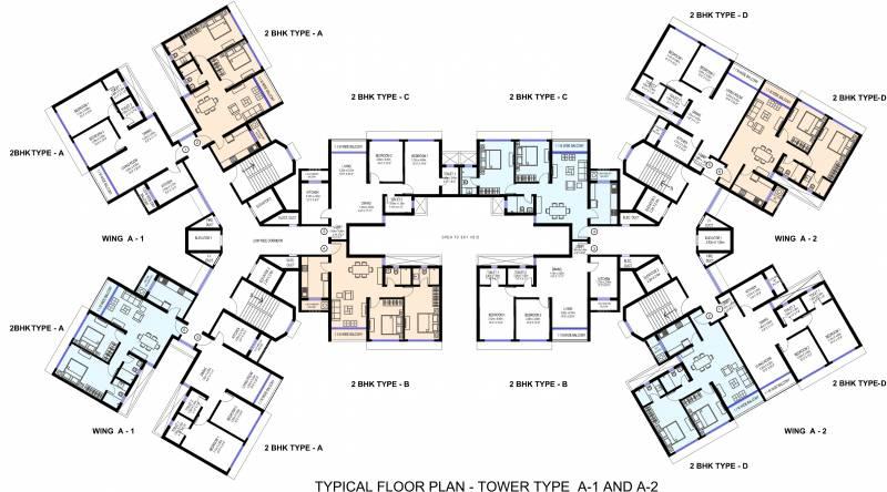 Images for Cluster Plan of Sea Gundecha Trillium