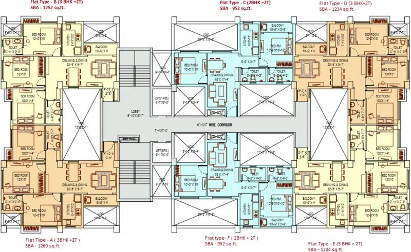 Images for Cluster Plan of Ganguly 4 Sight Grand Castle