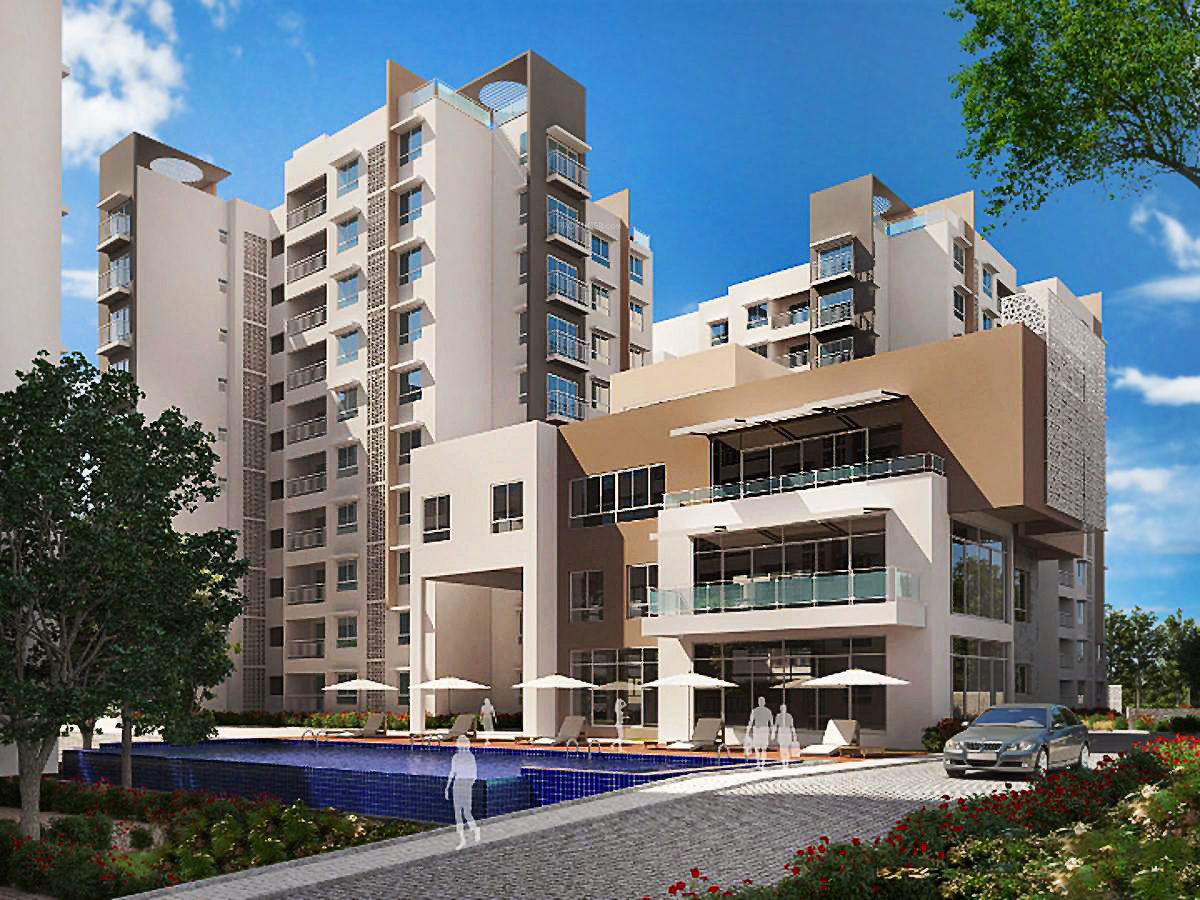 Elevation Stones Bangalore : Main elevation image of ajmera group stone park unit