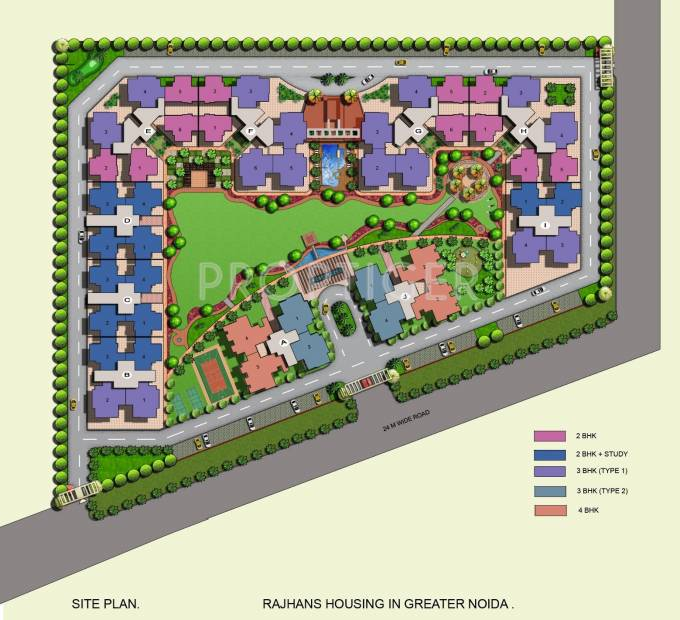 residency Images for Site Plan of Rajhans Residency